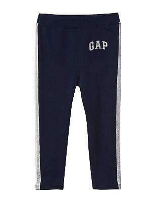 GAP Baby Shimmer Logo Soft Terry Leggings