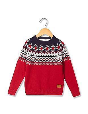 U.S. Polo Assn. Kids Boys Standard Fit Lambs Wool Sweater