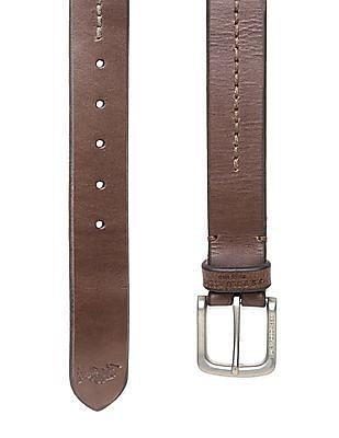 U.S. Polo Assn. Contrast Stitch Leather Belt