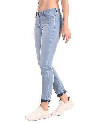 Cherokee Blue Slim Fit Stone Wash Jeans