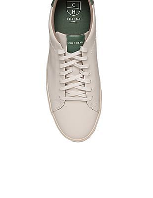 Cole Haan Round Toe Leather Sneakers