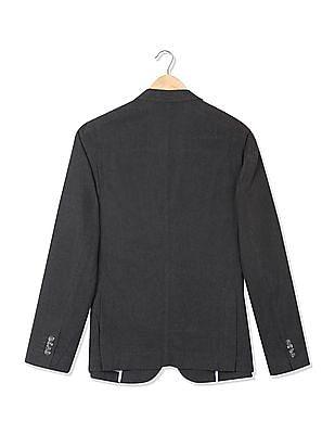 U.S. Polo Assn. Single Breasted Patterned Weave Blazer