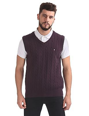 Izod Wool Blend Sleeveless Sweater