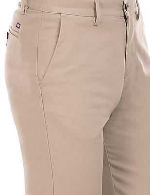 Arrow Sports Solid Regular Fit Trousers