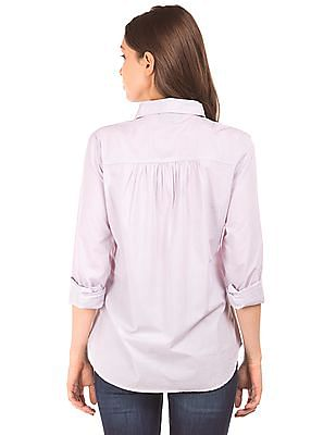 Aeropostale Flap Pockets Cotton Shirt