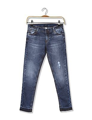 Cherokee Girls Slim Fit Washed Jeans