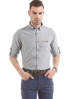 U.S. Polo Assn. Denim Co. Solid Slim Fit Shirt