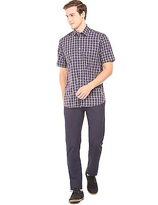 Arrow Sports Short Sleeved Check Shirt