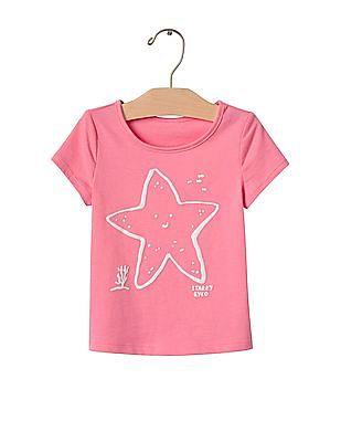 GAP Baby Pink Graphic Short Sleeve Tee