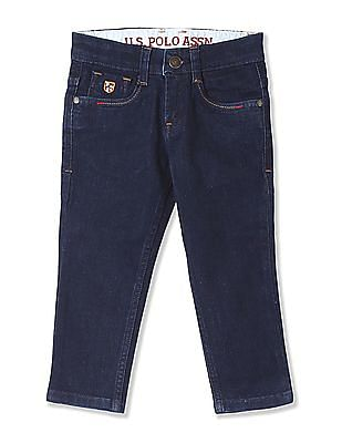 U.S. Polo Assn. Kids Boys Slim Fit Rinsed Jeans