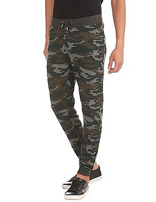 Ed Hardy Slim Fit Camouflage Printed Joggers