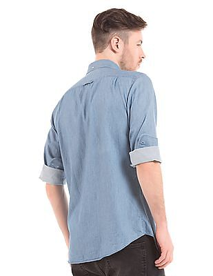 Gant Fitted Button Down Chambray Shirt