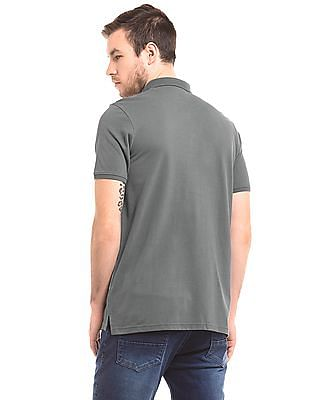 True Blue Solid Pique Polo Shirt