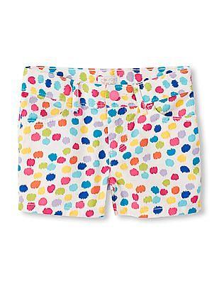 The Children's Place Girls Dot Print Woven Shorts
