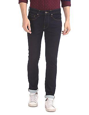 Arvind Skinny Fit Rinsed Jeans