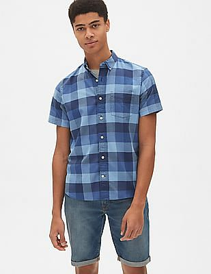 GAP Lived-In Stretch Oxford Short Sleeve Shirt