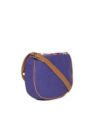 Bronz Printed Flap Canvas Sling Bag