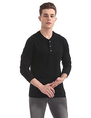 Cherokee Regular Fit Henley T-Shirt