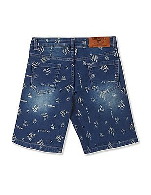 Cherokee Boys Printed Denim Shorts