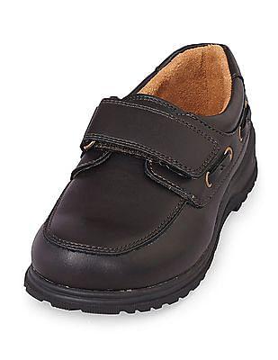 The Children's Place Boys Black Velcro Strap Slip-On Shoes