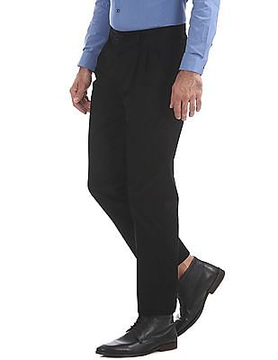 Arrow Sports Sports Comfort Fit Pleated Front Trousers