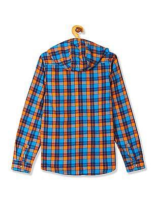FM Boys Boys Hooded Check Shirt