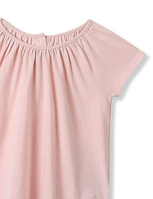 GAP Toddler Girl Shirred Raglan Tee