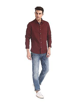 Excalibur Super Slim Fit Printed Shirt