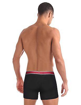 USPA Innerwear Solid Cotton Spandex Trunks
