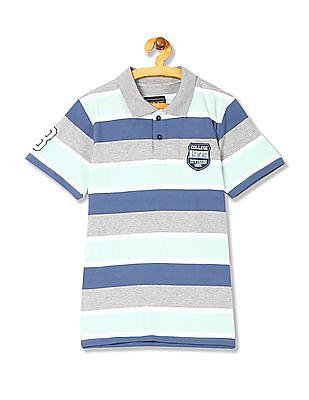 Cherokee Boys Striped Short Sleeve Polo Shirt
