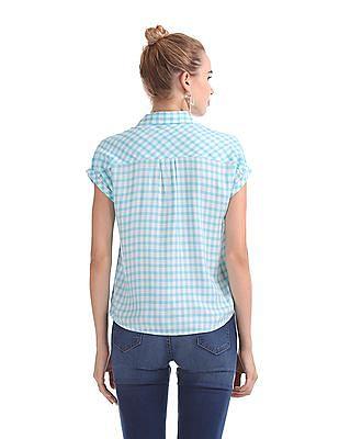 Flying Machine Women Regular Fit Check Shirt