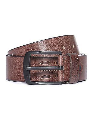 Flying Machine Textured Leather Belt