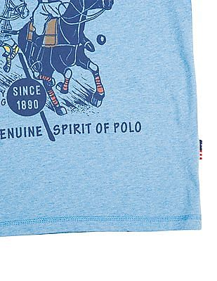 U.S. Polo Assn. Kids Boys Printed Front Crew Neck T-Shirt