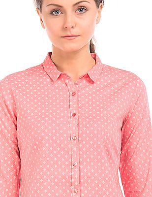 Arrow Woman Regular Fit Printed Shirt