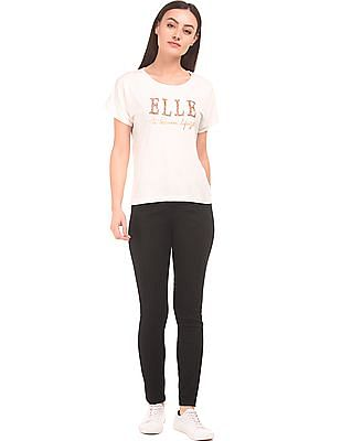 Elle Panelled Skinny Fit Jeans