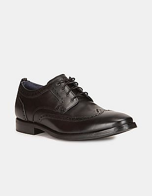 Cole Haan Men Black Grand 2.0 Wingtip Derby Shoes