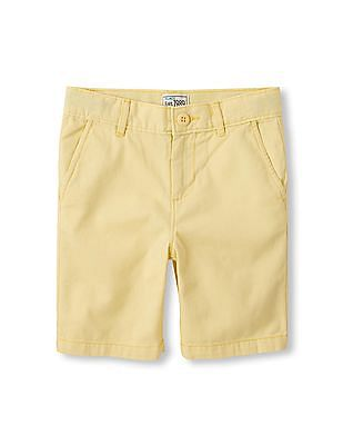 The Children's Place Boys Yellow Chino Shorts