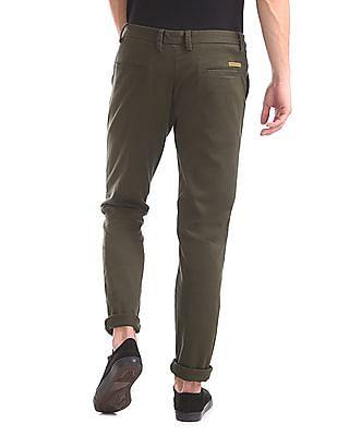 Ruggers Tapered Fit Solid Trousers
