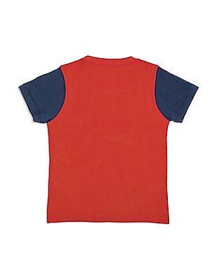 Cherokee Boys Regular Fit Printed T-Shirt