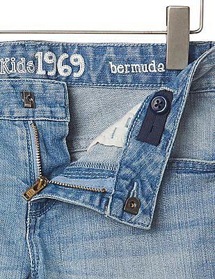 GAP Girls Blue 1969 Denim Bermuda Shorts