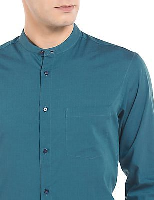 Arrow Newyork Mandarin Collar Skinny Fit Shirt
