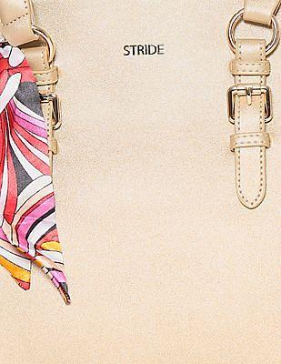 Stride Printed Scarf Tote Bag