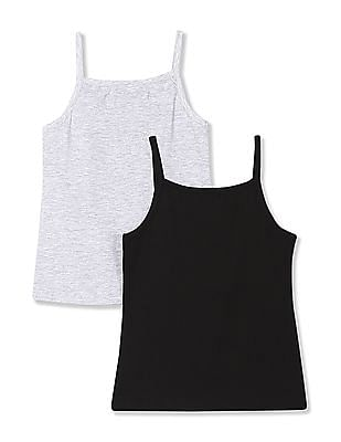 Cherokee Assorted Girls Solid Cotton Stretch Camisole