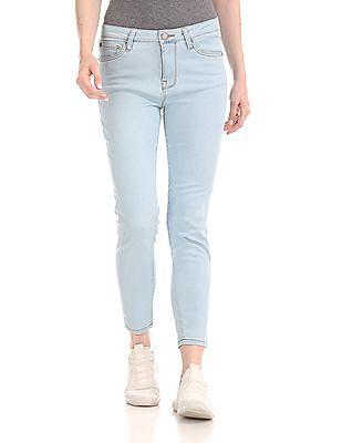 Aeropostale Washed Mid Waist Jeans