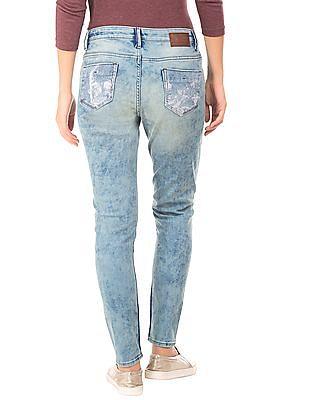 EdHardy Women Acid Wash Skinny Fit Jeans