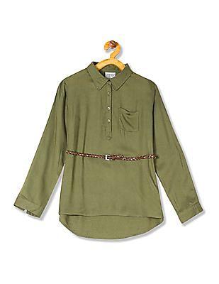Cherokee Girls High Low Hem Belted Tunic
