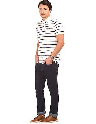 U.S. Polo Assn. Denim Co. Rinse Washed Slim Straight Fit Jeans