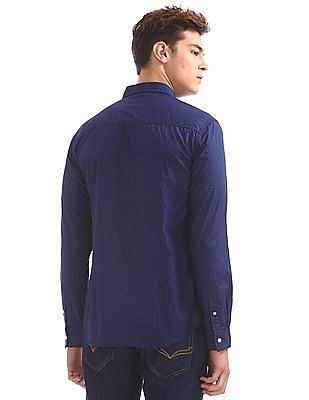 Flying Machine Standard Fit Printed Shirt