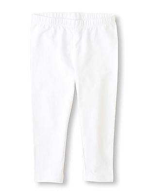 The Children's Place Girls Solid Leggings - Capri Length