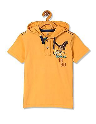U.S. Polo Assn. Kids Boys Brand Embroidered Cotton T-Shirt